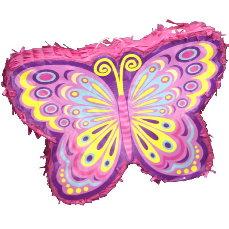 pinata papillon rose d coration animation pas cher un. Black Bedroom Furniture Sets. Home Design Ideas