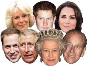 masques famille royale royaume uni