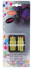 boite 6 crayons gras fluo effet uv