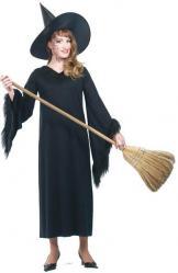 Déguisement Sorcière Halloween Col Fourrure pas cher