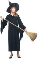 deguisement sorciere halloween col fourrure
