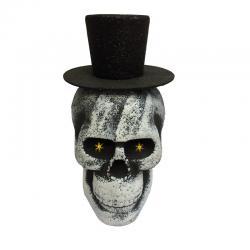 Crâne polystyrène paillettes