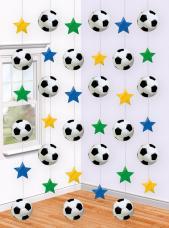 guirlandes anniversaires etoiles et ballons de football