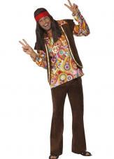 deguisement hippie psychedelique marron