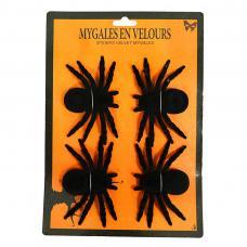 4 mygales velours noires
