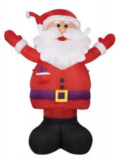 pere noel gonflable lumineux geant