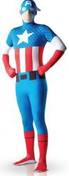 Seconde Peau Captain America Adulte pas cher
