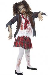 Costume enfant zombie écolière pas cher