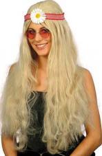 perruque hippie pour femme