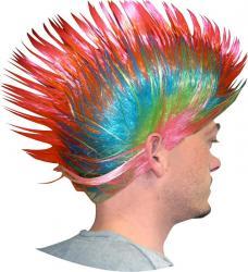 Perruque Punk Multicolore pas cher