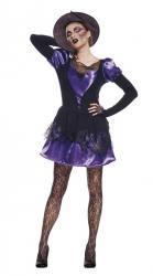 Déguisement sorcière violet et noir pas cher