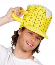 chapeau en forme de chope de biere
