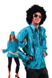 Chemise Disco Turquoise pas cher