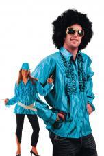 chemise disco turquoise