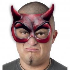 demi masque diable rouge
