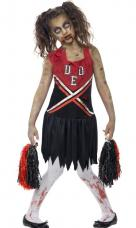 costume cheerleader zombie enfant