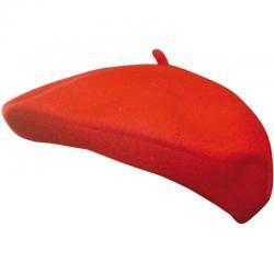 Beret Basque rouge en feutrine