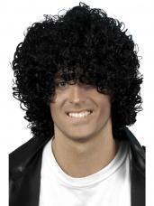 perruque afro noir homme
