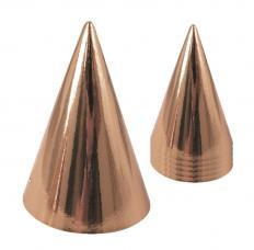 chapeaux cone rose gold