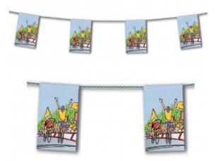 guirlande fanions cycliste en papier