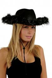 chapeau cowgirl noir pas cher