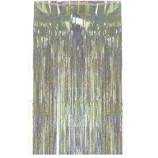 rideau lamelle blanc irise
