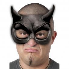 demi masque diable noir