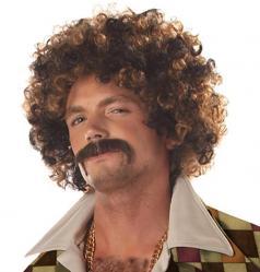 Perruque Disco et Moustache pas cher