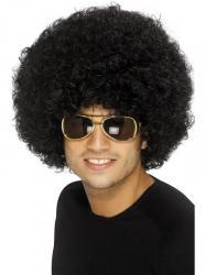 Perruque afro funky noir pas cher