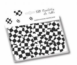 confettis de table damiers
