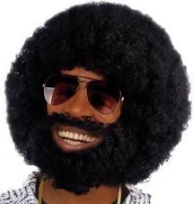 perruque afro noire homme