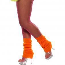 chaussettes danse orange fluo