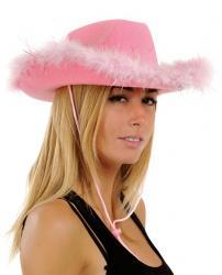 chapeau cowgirl rose pas cher