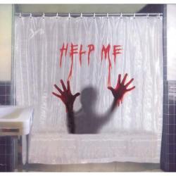 Halloween : décoration de rideau de douche