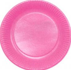 assiettes en carton de couleur fuchsia