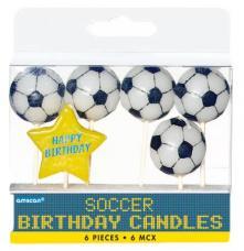 6 bougies anniversaire football