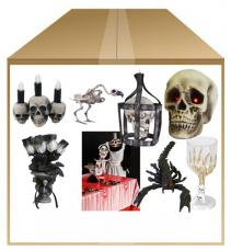 kit deco squelette halloween