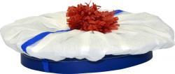 Chapeau marin blanc en papier crépon
