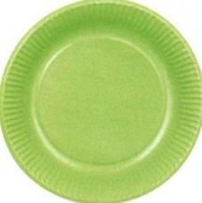 assiettes en carton de couleur verte