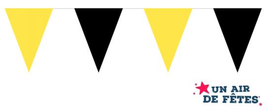 guirlande fanions jaune et noir