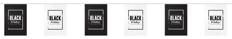 guirlande fanions black friday noir et blanc
