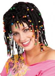 Perruque Rasta avec Perles pas cher
