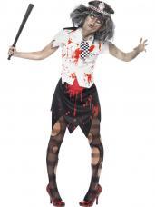 deguisement zombie policewoman