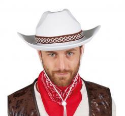 chapeau feutre cowboy blanc