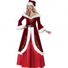 costume mere noel velours luxe