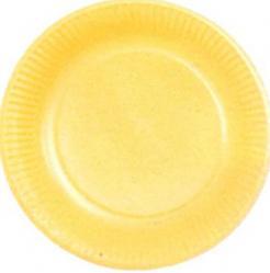 Assiettes en carton de couleur Jaune pas cher