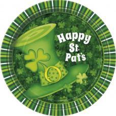 8 assiettes cartons chapeaux Saint Patrick