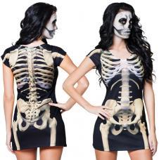 robe photorealiste squelette