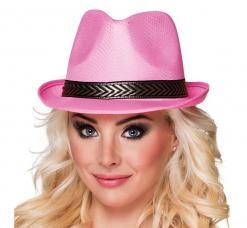 chapeau borsalino rose
