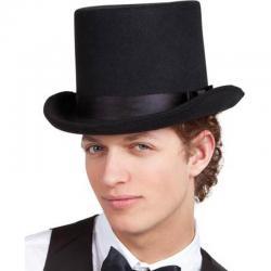 Chapeau haut de forme noir luxe pas cher